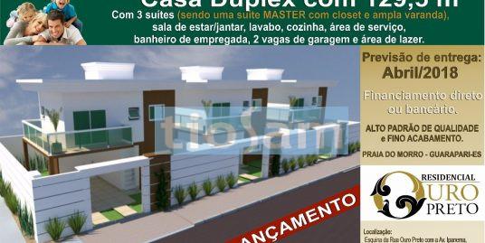 Casa duplex em Condomínio Residencial Ouro Preto Praia do Morro Guarapari