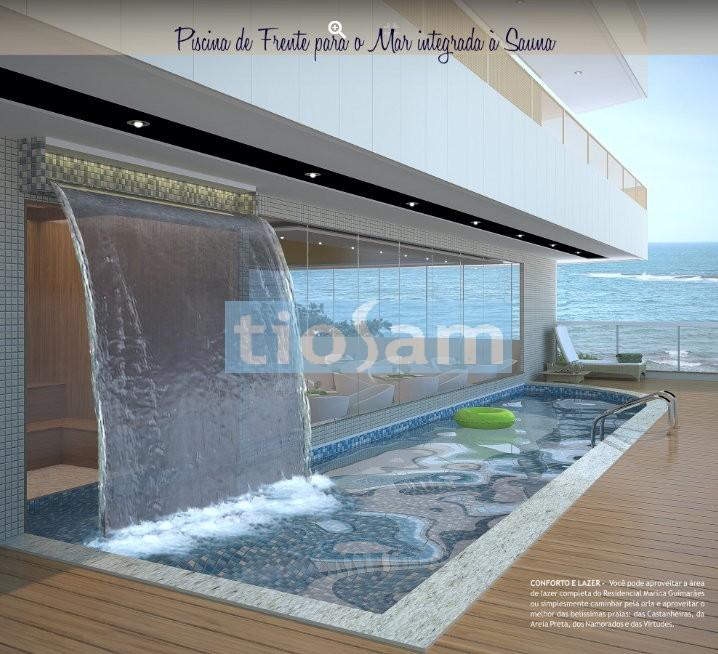 Edifício Residencial Marina Guimarães 4 suítes prédio de frente para o mar Praia das Castanheiras Guarapari ES