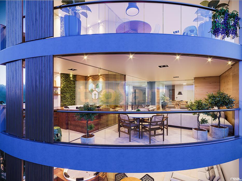 Edifício Seven Beach Residence apartamento 3 suítes com 135,64M2 Praia da Bacutia Nova Guarapari ES