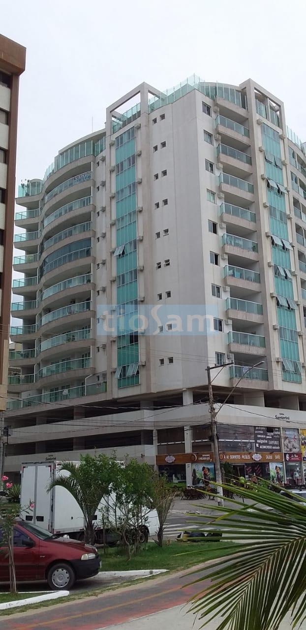 Edifício Santorine apartamento 3 quartos vista lateral  mar  Praia do Morro Guarapari ES