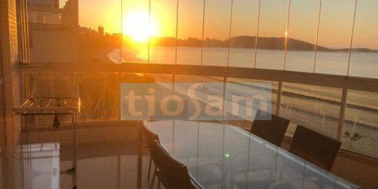 Apartamento mobiliado 3 quartos frente mar edifício Giuseppe Mai Praia do Morro Guarapari ES