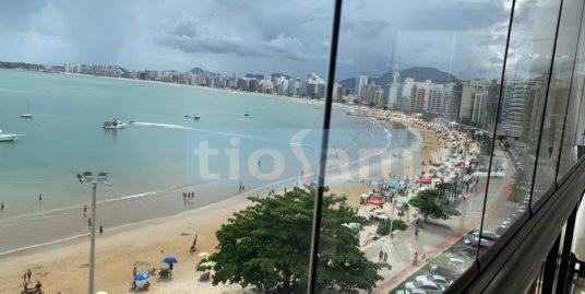 Apartamento mobiliado 4 suítes frente mar Praia do Morro Guarapari ES